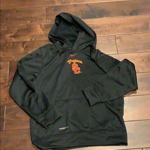 Nike boys black USC Trojans SzL thermafit hoodie